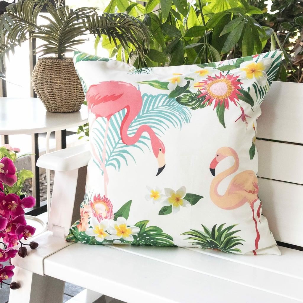 Bax Flamingo Paradise Outdoor Throw Pillow
