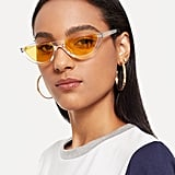Shein Clear Frame Tinted Lens Sunglasses