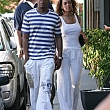 Beyoncé and Jay Z outfitted perfect vacationwear for their trip to St. Barts in 2008.
