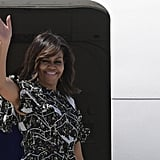 Michelle Obama's Floral Dress in Spain July 2016