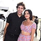 David Dobrik and Lucy Hale at the Teen Choice Awards 2019