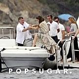 Queen Rania of Jordan Vacations in Italy