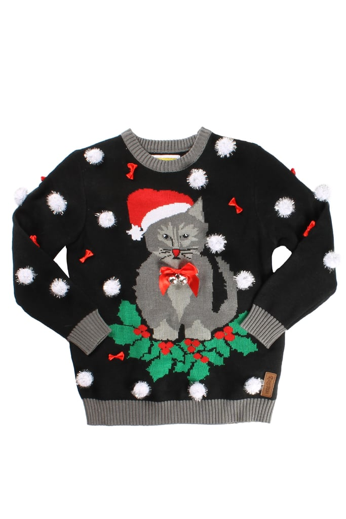 Kitten Christmas Sweater.Kitten Wreath Sweater Ugly Christmas Sweaters For Babies