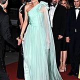Diane Kruger wore a long flowing gown to the Cannes Film Festival opening night dinner.
