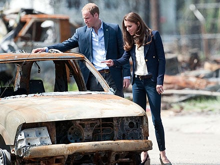 William and Kate Tour Fire-Ravaged Canadian Town