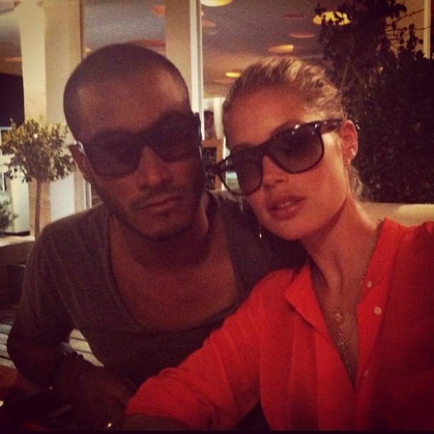Doutzen Kroes and husband Sunnery James wore matching shades. Source: Instagram user doutzenkroes1