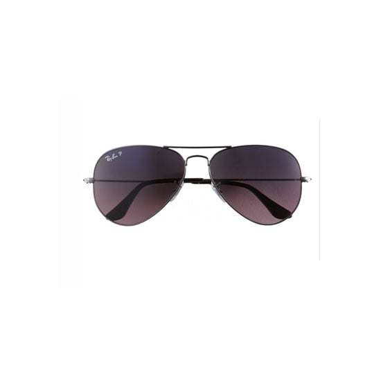 I'm nothing without my aviators – partly because they're prescription so I can't see a lot without them – but mostly because they make me feel very CB. That's Carrie Bradshaw to you. Don't laugh. — Alison, BellaSugar editor Sunglasses, approx $196, Ray Ban at Nordstrom