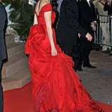 Berenice Bejo wore a bright red gown to the opening ceremonies of the Cannes Film Festival.