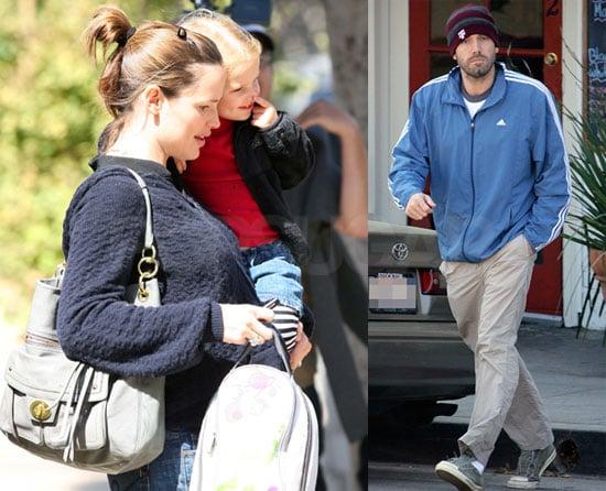 Photos of Pregnant Jennifer Garner Out in LA with Violet Affleck and Ben Affleck