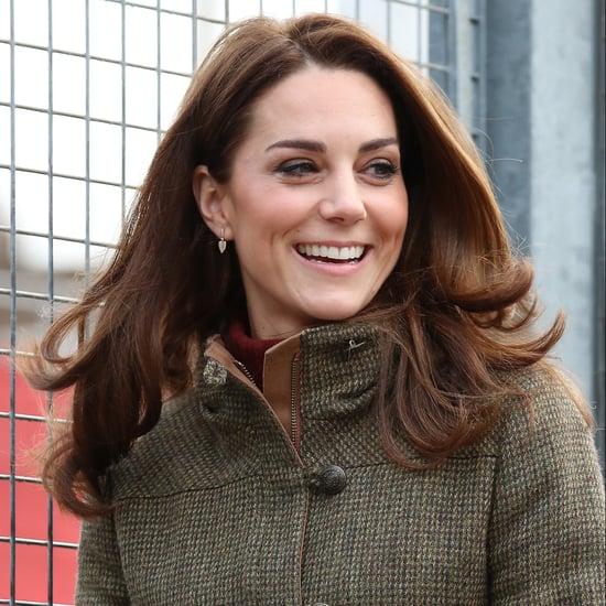 Kate Middleton Visits King Henry's Walk Garden January 2019