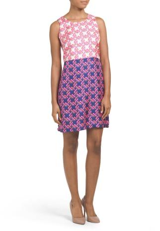 Silk Leah Mixed Print Dress ($80)