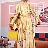 Acler Wallace Floral-Print Satin Midi Dress