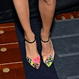 Louise's shoes were a unique take on the usual ankle-strap pumps.