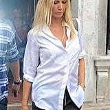 Gwyneth Paltrow in a button down.
