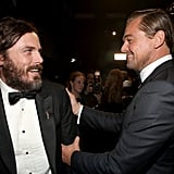 Pictured: Casey Affleck and Leonardo DiCaprio