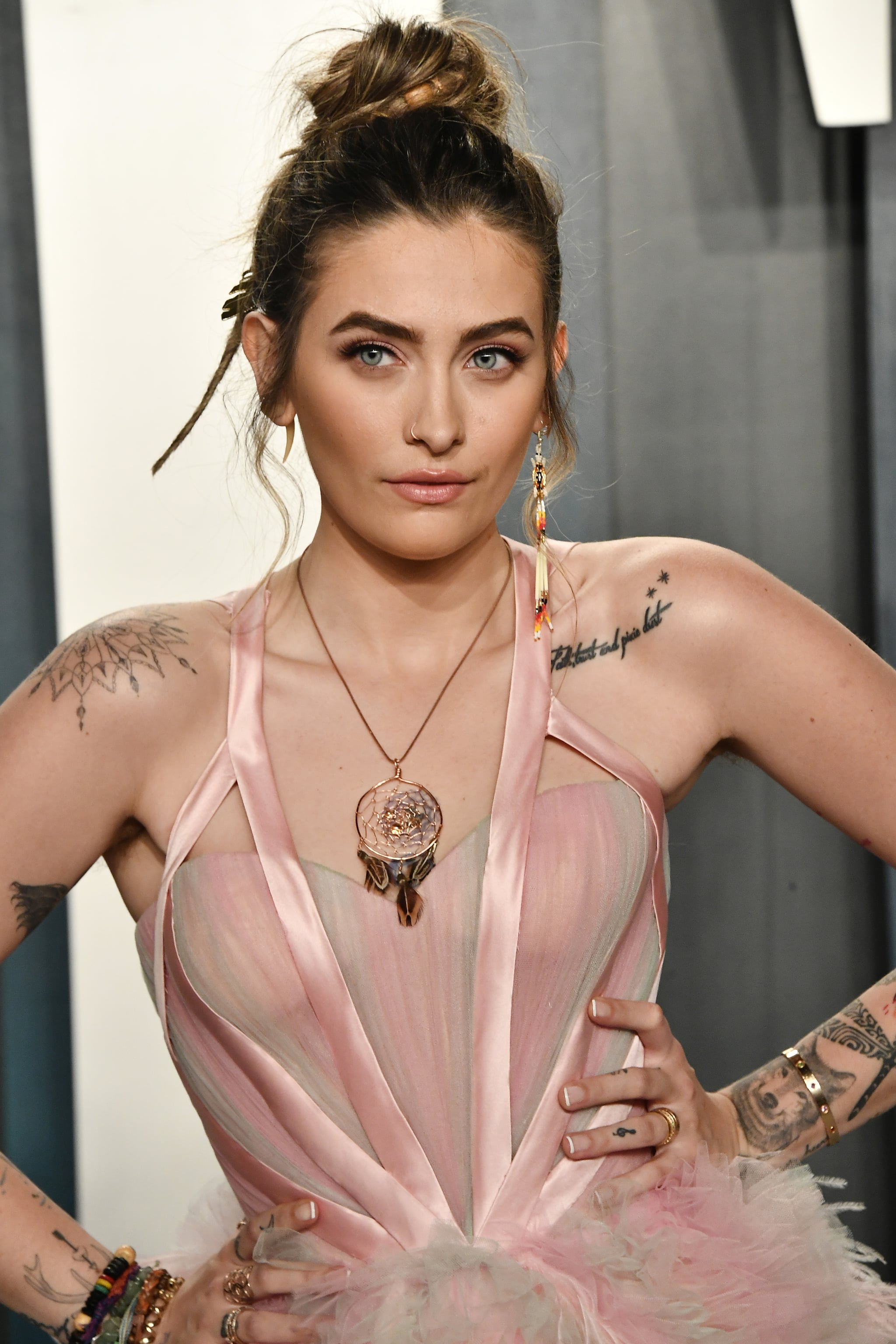 BEVERLY HILLS, CALIFORNIA - FEBRUARY 09: Paris Jackson attends the 2020 Vanity Fair Oscar Party hosted by Radhika Jones at Wallis Annenberg Center for the Performing Arts on February 09, 2020 in Beverly Hills, California. (Photo by Frazer Harrison/Getty Images)