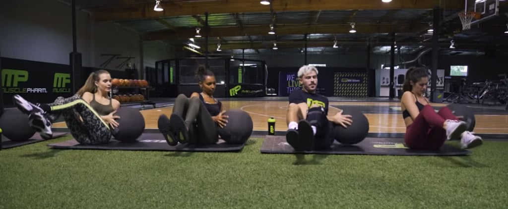 Zac Efron and Victoria Secret Models Workout