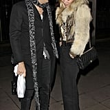 Kate Moss and Jamie Hince shared a sweet look of love in London.