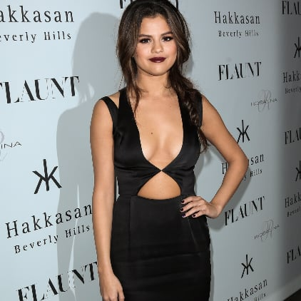 Selena Gomez in Black Dress at Flaunt Magazine Party