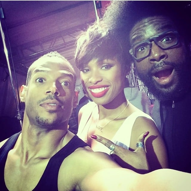 Marlon Wayans, Jennifer Hudson, and Questlove posed backstage together at the Philly Fourth of July Jam. Source: Instagram user questlove