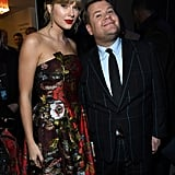 Taylor Swift and James Corden at the Cats World Premiere in NYC