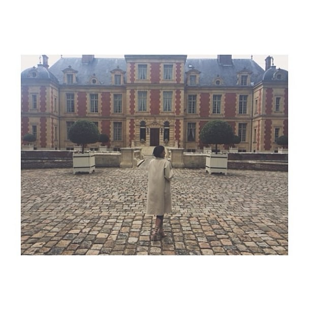 Kylie Jenner shared snaps outside the chateau. Source: Instagram user kyliejenner
