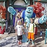 The singer celebrated her birthday at Disneyland with Kingston and Zuma, and niece Stella in 2014.
