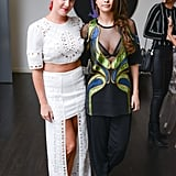 Selena posed for photos while Kendall mingled with friends.