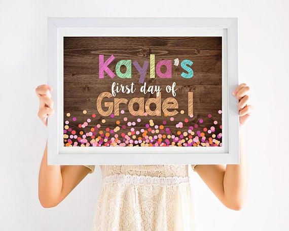 Back-to-School Confetti Sign