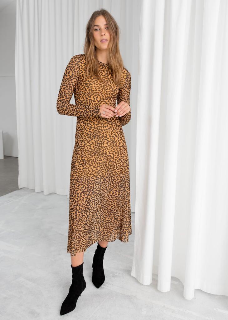 fcd8642b7 & Other Stories Sheer Leopard-Print Midi Dress   Victoria Beckham's ...