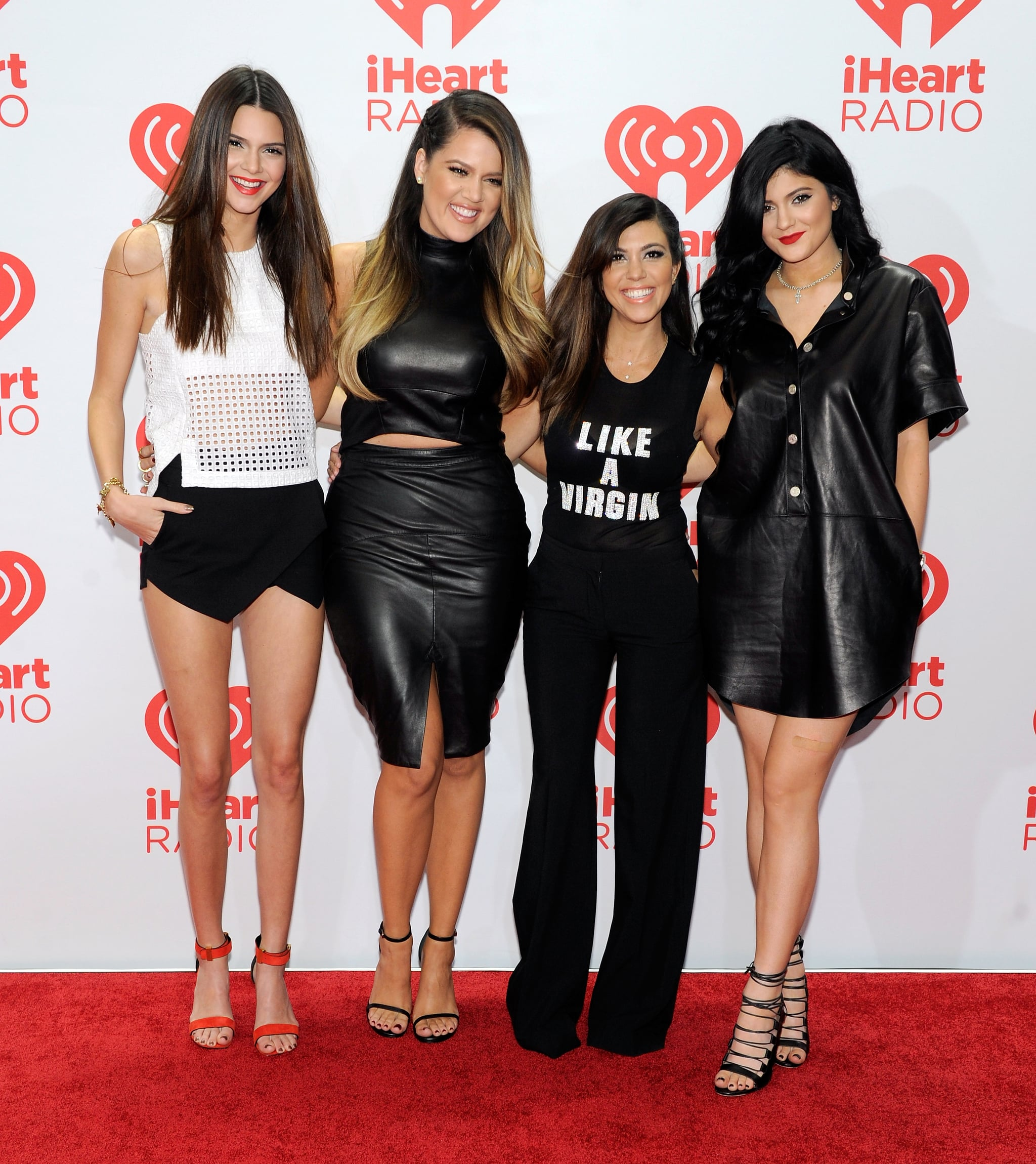 The Kardashians worked their stuff on the red carpet.