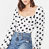 Forever 21 Polka Dot Print Top