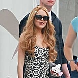 Lindsay Lohan joined the Glee cast for an episode featuring her.