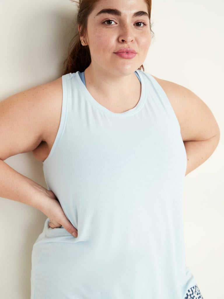Old Navy Plus-Size Pleated-Back Performance Swing Tank