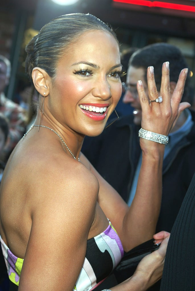 Jennifer Lopez's Engagement Rings | POPSUGAR Fashion