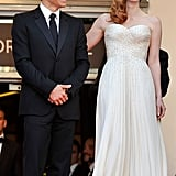Ben Stiller and Jessica Chastain posed together at the premiere.