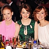 The Help's Jessica Chastain, Ahna O'Reilly, and Emma Stone were together for the Critics' Choice Movie Awards.