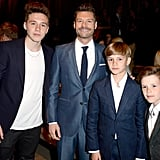 Brooklyn Beckham, Ryan Seacrest, Romeo Beckham, and Cruz Beckham