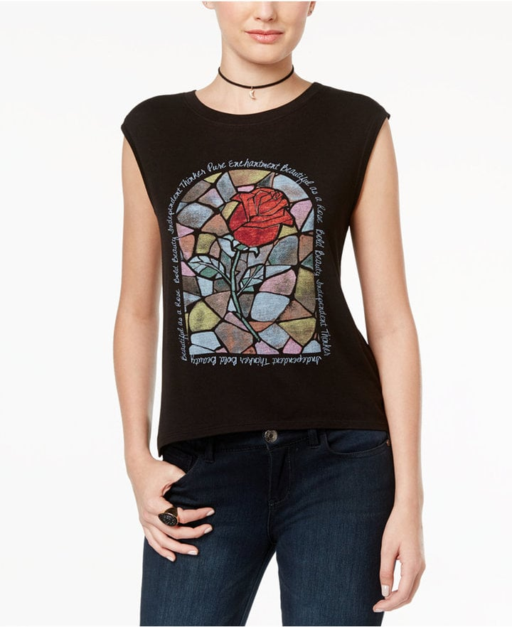 Disney Beauty and the Beast Juniors' Rose Graphic T-Shirt