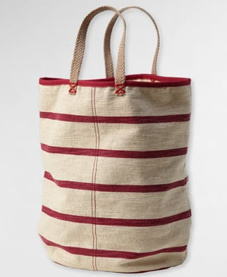 A roomy, go-anywhere play on stripes.  Levi's Nautical Canvas Tote ($58)