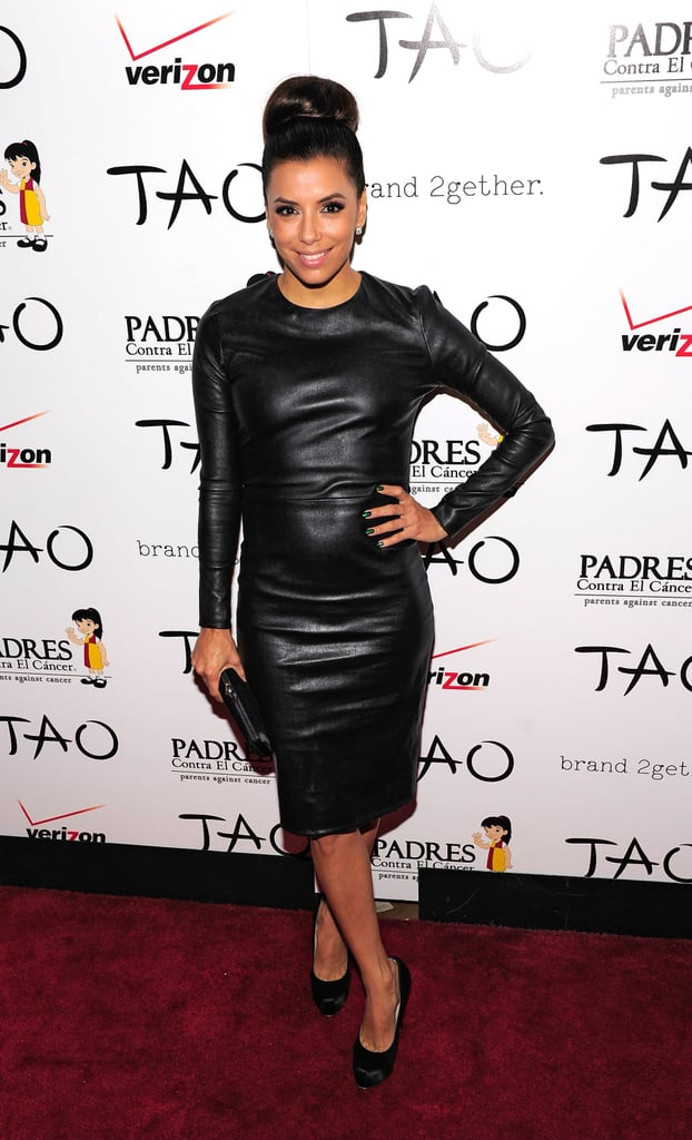 Eva Longoria hit the red carpet recently in a long-sleeved leather dress from The Row. The curve-hugging piece perfectly fused elegance and sex appeal.