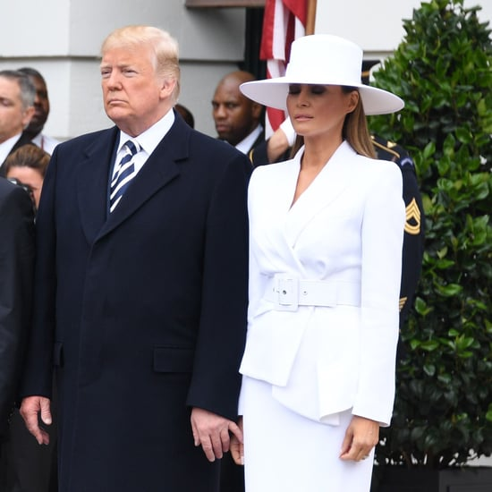 Donald Trump Trying to Hold Melania's Hand April 2018