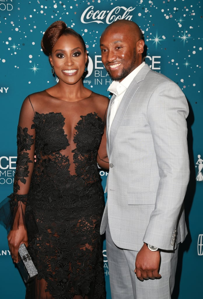 Issa Rae and Louis Diame at the 2017 Essence Black Women in Hollywood Awards