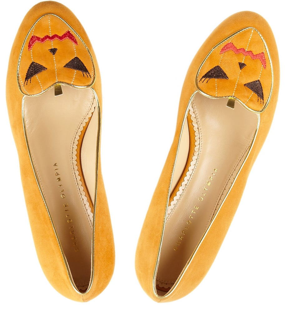 Halloween gets cute with these brilliant Charlotte Olympia Trick or Treat slippers (£495). Perfect for wearing at home while you answer the door to trick-or-treaters.