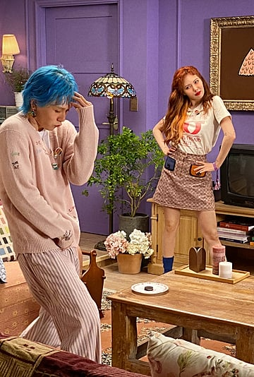 K-Pop's HyunA and Dawn in Coach Video at Friends Apartment