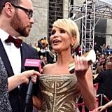 Kristin Chenoweth got animated ahead of the big show.