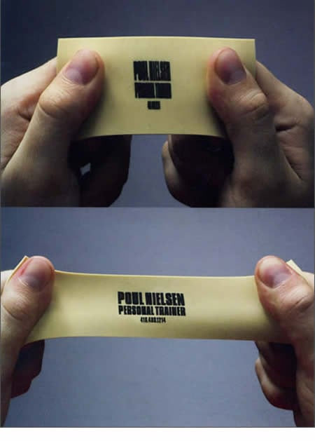 A personal trainer's business card.