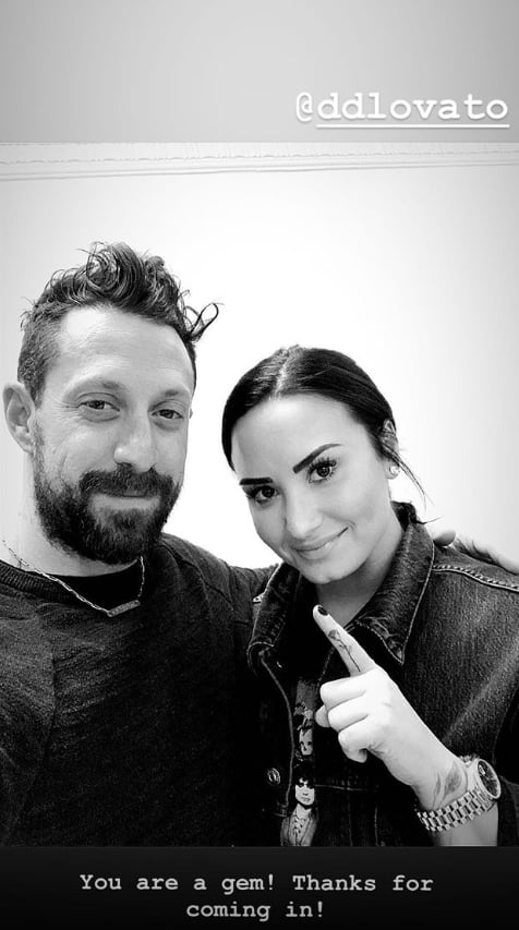 Demi Lovato just added to her vast collection of ink, and this one might be our favourite yet. The singer took a trip to visit LA-based tattoo artist Winter Stone to get a dainty rose inked on her index finger. The tiny tattoo is undoubtedly chic, but is there a meaningful reason behind the design? Lovato celebrated six months of sobriety on Jan. 26, and it makes sense she may want to celebrate and pay tribute to this. A rose often symbolises balance, and the flower can also symbolize hope and new beginnings contrasted against the thorns that can represent loss. Whether that's the reasoning behind her tattoo or not, there's no denying it's a beautiful design.  Get a closer look at Lovato's new ink ahead, as well as some of her other many tattoos.