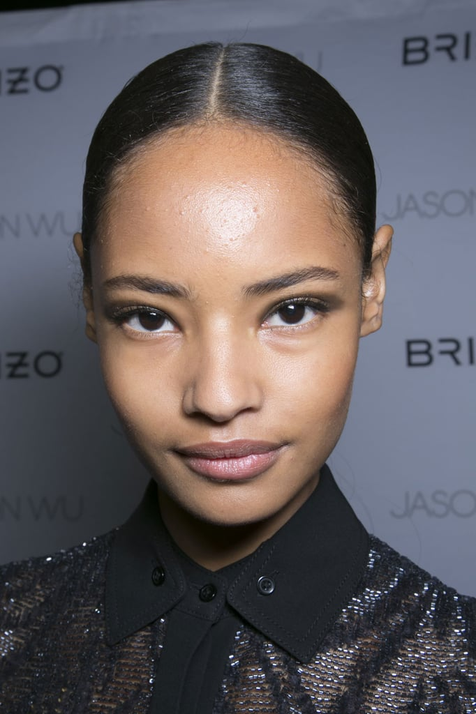 """I don't put on foundation and leave my base clean. Sometimes I'll put yogurt and honey on my face. I try to sleep as much as possible."" — Model Malaika Firth (pictured) at Jason Wu"