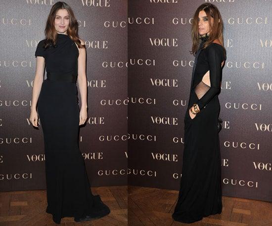 Laetitia Casta and Carine Roitfeld at Gucci Dinner in Paris